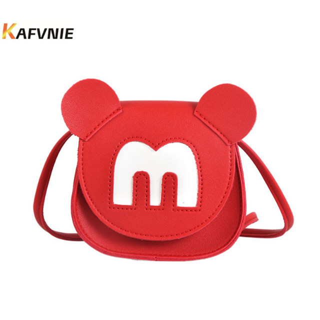 2018 New Kids Pu Cute Mickey Crossbody Children S Satchel Shoulder Bags Princess Handbag Lovely Birthday