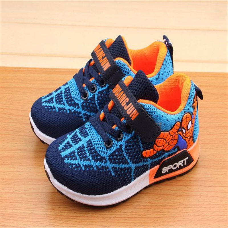 meet f373e 656f2 US $21.8 |Spring 2018 Vapormax Kids Spiderman with Night Sneakers boy shoes  kids Girls Sneakers 34 40 cm tenis running shoes enfat sport-in Sneakers ...