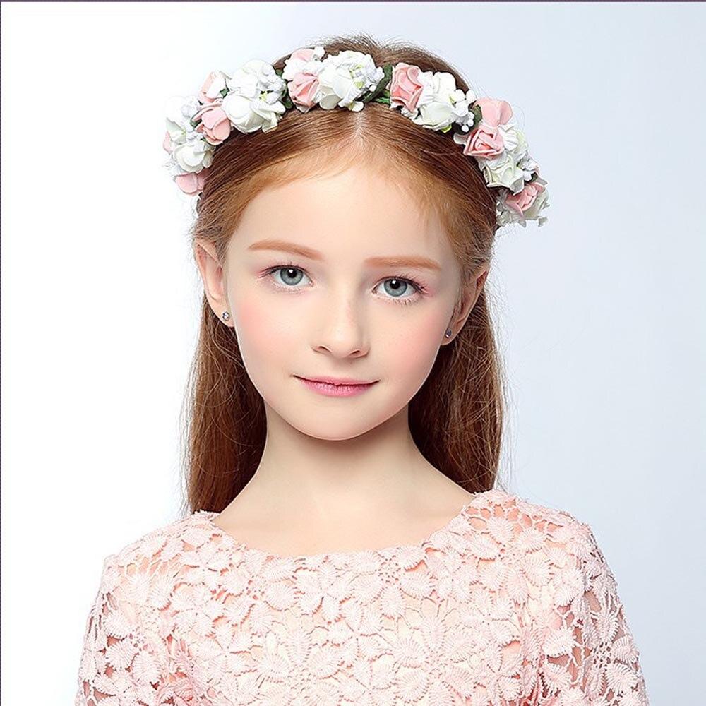 3 5 Black Flower Hair Clip With Flower Center: 1 PCS Wedding Headwear Bohemia Flower Hairband Children