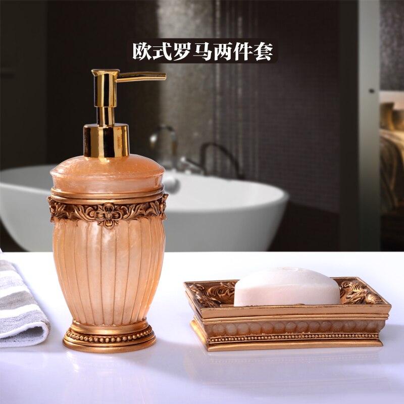 2016 limité Banheiro ensemble de salle de bain bouteille européenne de lavage des mains liquide boîte à savon deux articles de toilette mariage pendaison de crémaillère cadeau