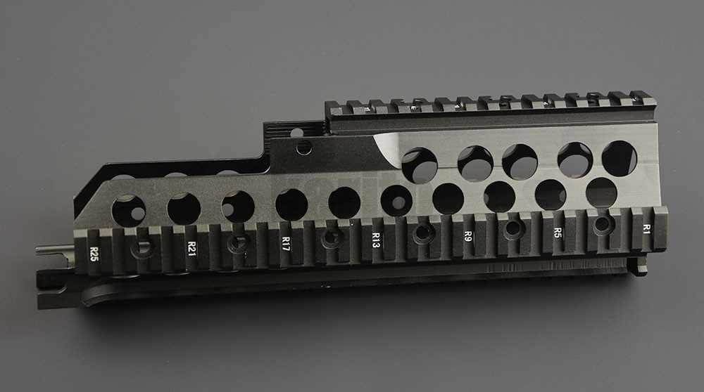التكتيكية H & K G36 سلسلة picatinny Handguard رباعية Picatinny السكك الحديدية جبل ل المقاطع و كوخ هونج كونج قفازات واقية لليد M1744