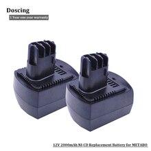 2 шт. 12 В в 2000 мАч Ni-CD Замена Мощность инструмент батарея для METABO 6.02151.50 BZ12SP BS 12 SP, BSZ 12, BZ 12 SP, SSP 12, ULA9.6-1