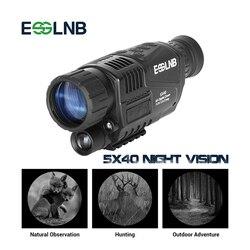 5X40 Монокуляр ночного видения инфракрасная камера ночного видения военный цифровой Монокуляр телескоп ночное охотничье навигационное устр...