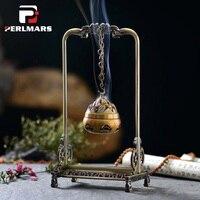 Pure Copper Pendant Agarwood Incense Holder Smoke Backflow Incense Burner Cone Joss Stick Censer Creative Vintage Home Decor