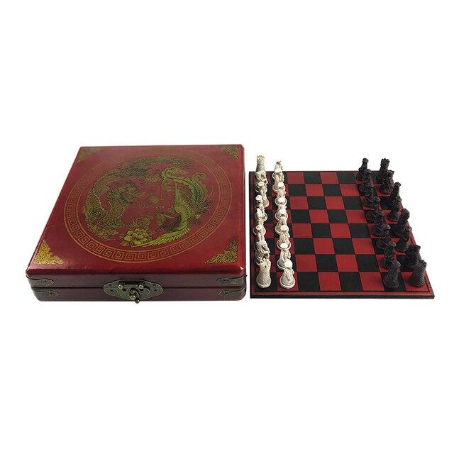 Eensemble d'échecs antiques, ensemble de pièces chinois 4