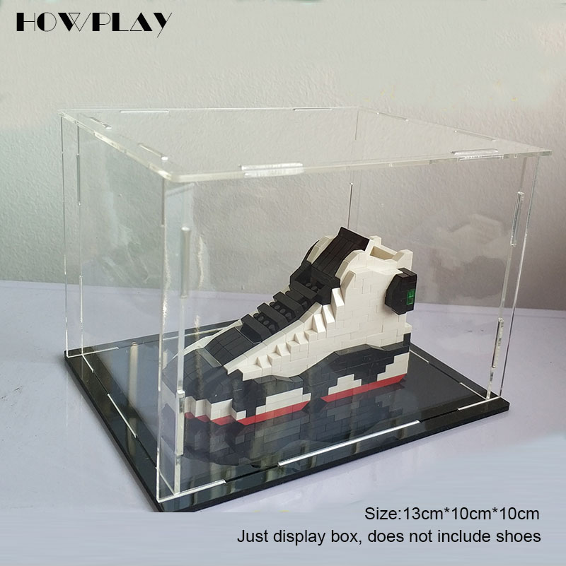 Howplay Acrylic Display Box Jordan Basketball Shoes Model Cabinet Prevent Scratches And Durability