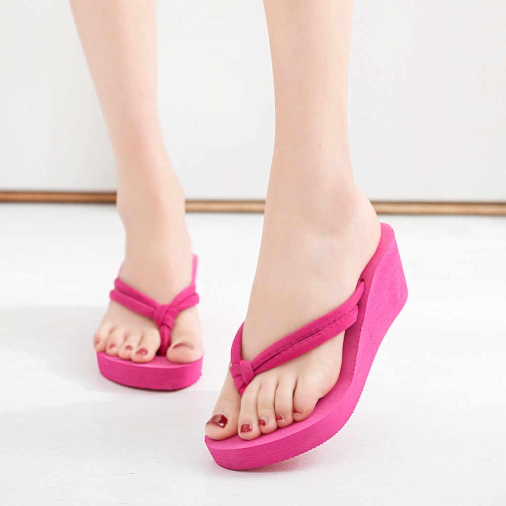 Giày Nữ Dép Chắc Chắn Mùa Hè Dép Đi Biển Giày Đế Xuồng Giày Nền Tảng Dép Nữ Dép Тапочки Zapatos Mujer