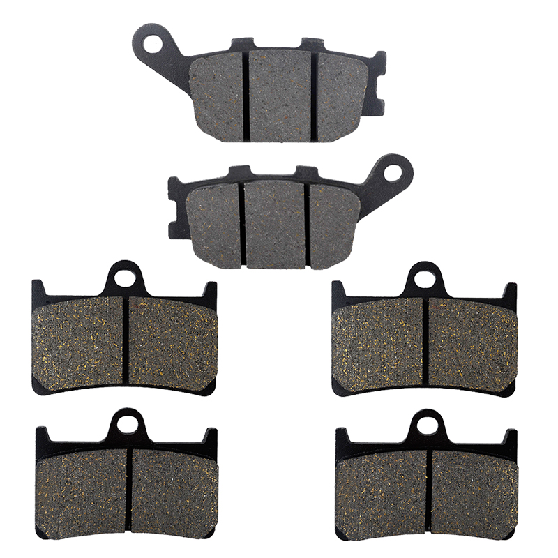 AHL Motorcycle Front And Rear Brake Pads For Yamaha YZF R6 600 (2003-2015) YZF R1 1000 (2004-2006) FZ6 (2007-2009) motorcycle brake pads front rear for polaris atv 700 ranger crew efi 4x4 2009