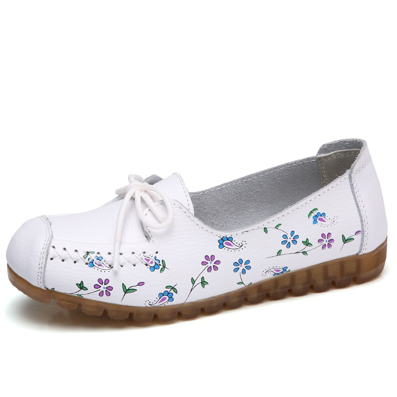 Lemai Donna Casual Shoes Female Genuine Leather Printing Loafers Loafers Printing Shoes Plus Size 9b83bb