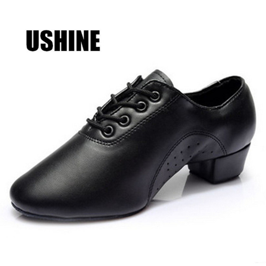 701 Black PU Salsa Ballroom Tango Zapatos De Baile Latino Children Latin Dance Shoes For Boy Men цена