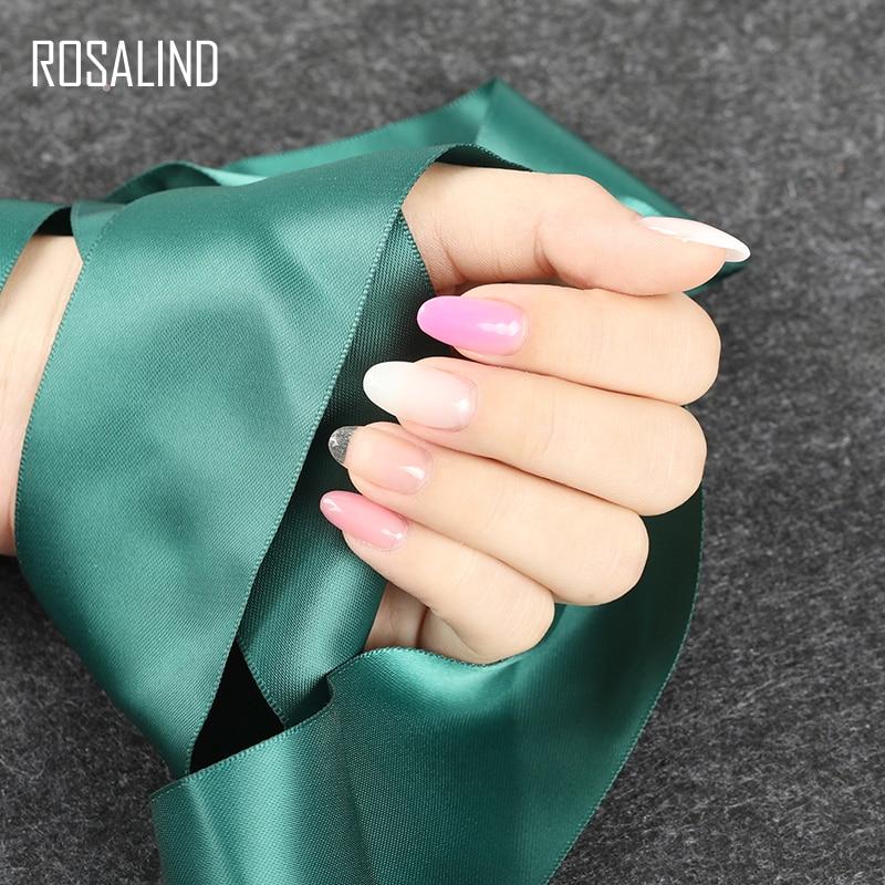 Image 5 - ROSALIND Poly gel Nail Polish 10ml Hybrid Semi Permanent UV Nails Art Poly builder Set Gel Varnish polish Gel For Nail Extension-in Nail Gel from Beauty & Health