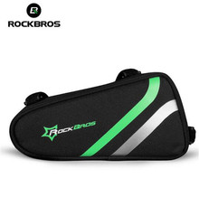 ROCKBROS Bicycle Frame Bag Outdoor Cycling Bag Bike Tube Bag Cycling Pannier Bike Accessories Bicycle Repair Tool Bag стоимость