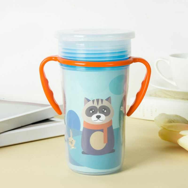 เด็กทารกเด็กผู้หญิงให้อาหาร Double Handle ถ้วยร้อนขายเด็กดื่มถ้วยการ์ตูนถ้วยเด็กทารกเด็กให้อาหาร
