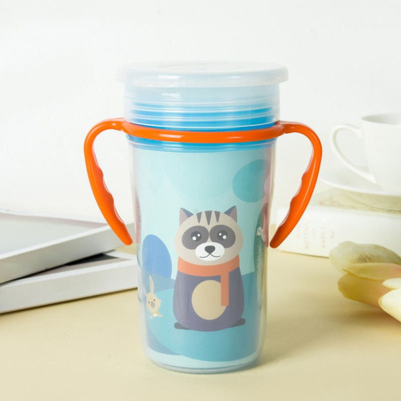 Kids Baby Boy Girl Feeding Double Handle Cup Hot Selling Baby Drinking Cup Cartoon Printing Cup Baby Kids Children Feeding