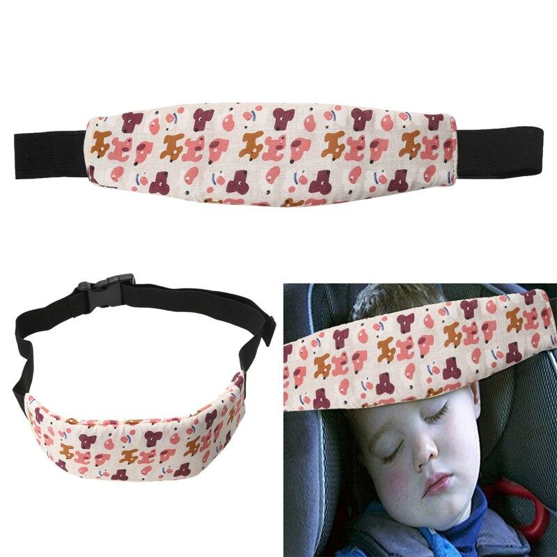 Fabric Car Safety Seat Sleep Positioner Baby Playpen Head Support Pram Stroller Adjustable Printed Belt