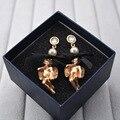 Baroque catwalk models baby doll angel bow trendy luxury vintage earrings wholesale 432