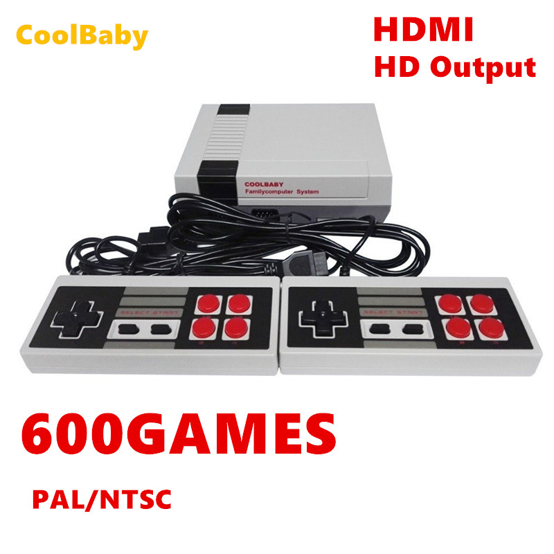COOLBABY HDMI Out Retro Classic handheld game player Family TV video game console Childhood Built-in 600 Games For nes mini P/N Картофель фри