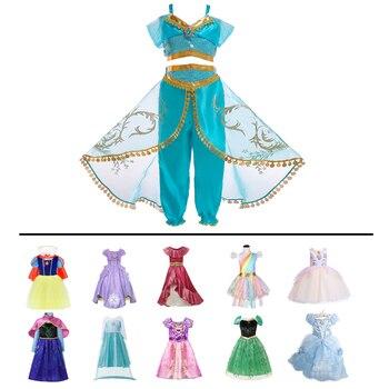 Фантазийное платье для маленьких девочек; праздничное платье Анны, Елены, Софии; платье принцессы Золушки, Рапунцель, Авроры; карнавальный к...