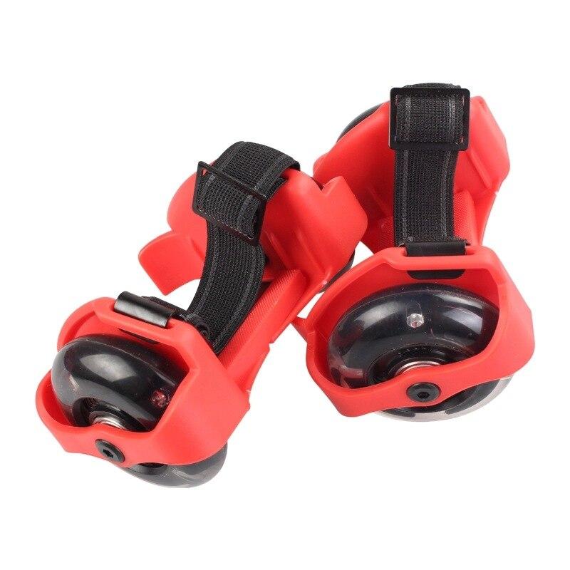 Pour adulte clignotant rouleau petit tourbillon poulie flash roue Skate chaussures clignotant rouleau chaussures - 4