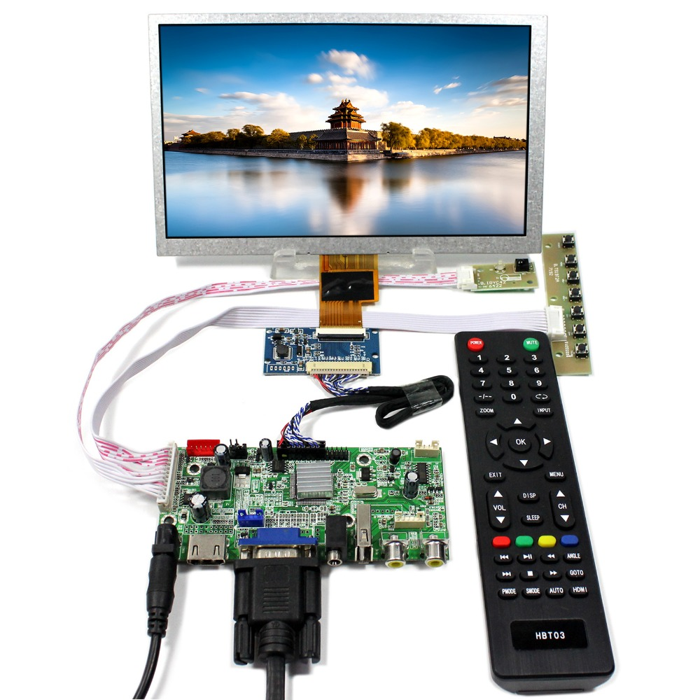 HDMI VGA AV Audio USB LCD Controller Board With 8inch 1024x600 ZJ080NA-08A LCD Panel tv hdmi vga av usb audio lcd controller board 10 1b101aw06 1024x600 lcd screen