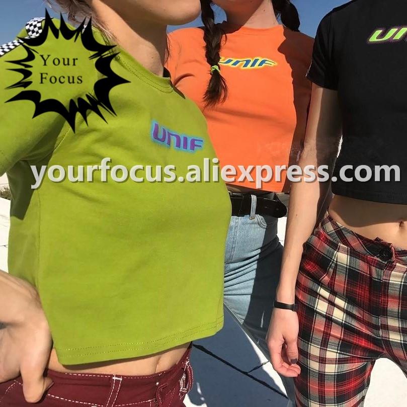 2017 лето старой школы ретро 90 s шахматной шить unif логотип обрезанные узкие и короткие растениеводство топ женщины футболку мужчины