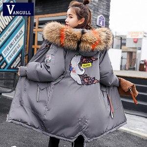 Image 3 - Vêtements à capuche pour femmes, manteaux féminins épais, taille large, avec veste chaude, fermeture éclair, parka longue, collection dhiver, collection décontracté