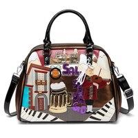 Summer Cuba Braccialini style Italy Handcraft Art Design Women Handbag with retro splicing messenger bag Tottyblu