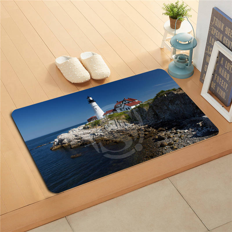 P&!18 Custom Portland Head Light Doormat Home Decor Door mat Floor Mat Bath Mats foot pa ...
