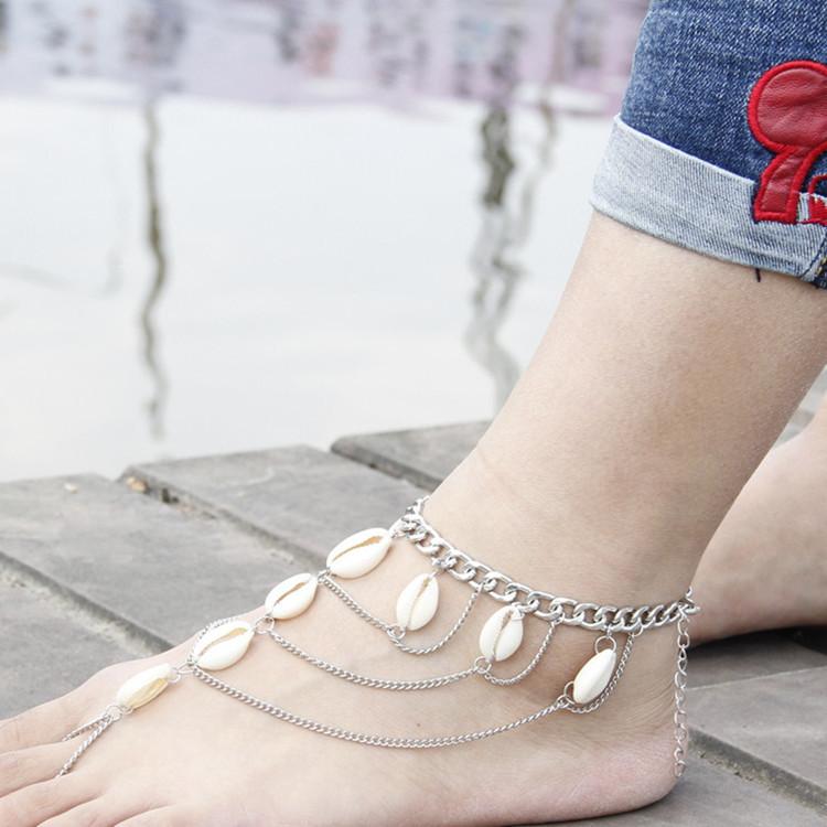 HTB1RmjHSpXXXXclXpXXq6xXFXXXZ Summer Boho Seashell Ankle Bracelet Accessory
