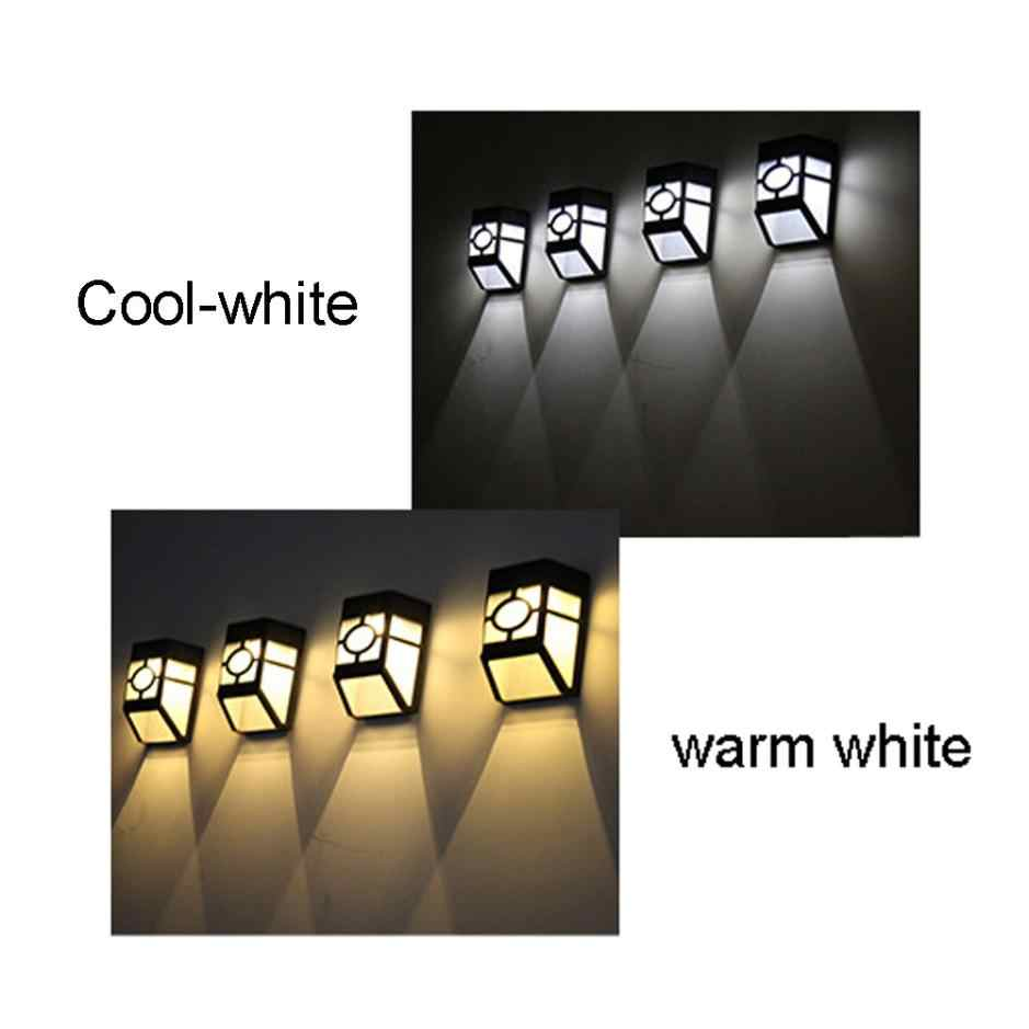 100% Brand New High Quality Wall Lamp Solar Light 2 LED Outdoor Garden Wall Path Yard Landscape Lighting Cool White Warm White
