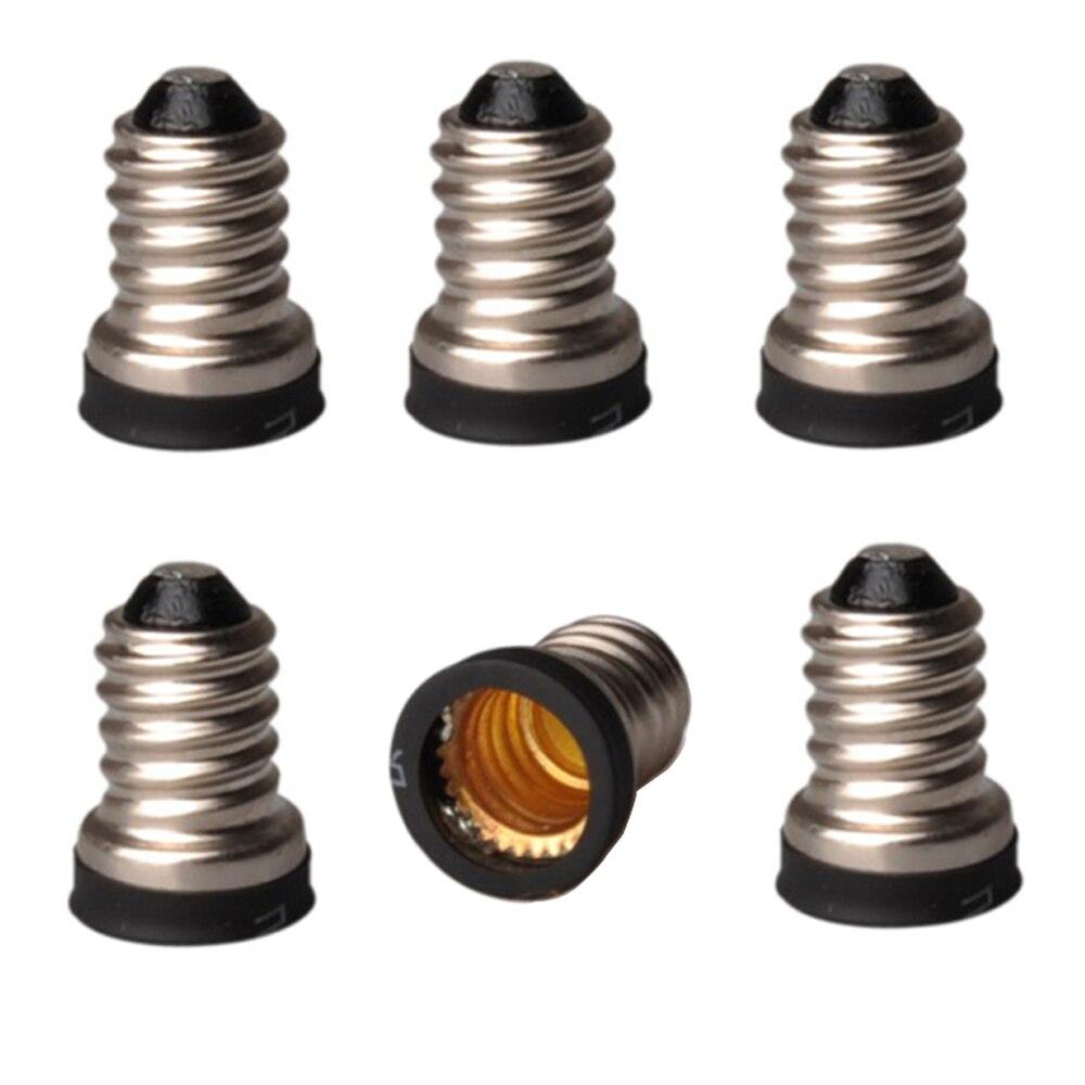 3pcs E14 To E12 Light Socket Adapter E14 To E12  Lamp Holder Converter,Install E12 US Candelabra Into E14 EU Candle Light Socket