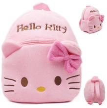 2016 High Quality Hello Kitty Plush Cartoon Toy Backpack Girl Character School Bag baby cute mini bags For Kids Gift