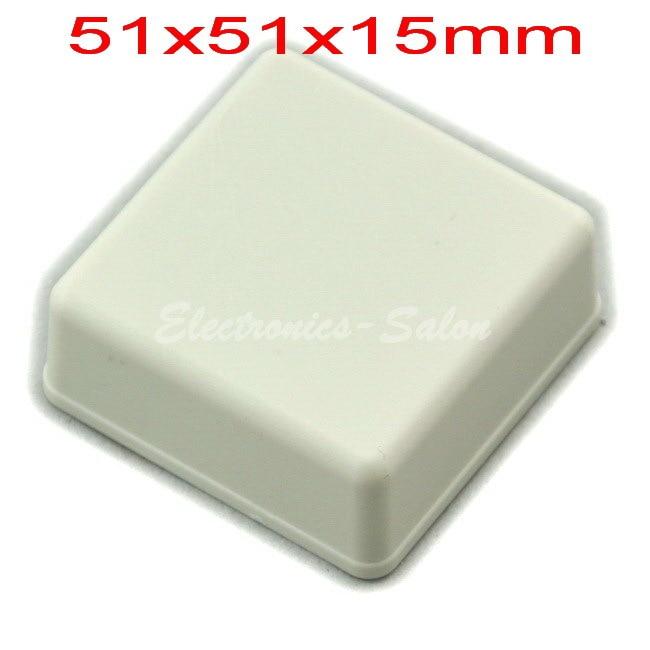 Small Desk-top Plastic Enclosure Box Case,White, 51x51x15mm,  HIGH QUALITY.
