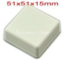 Небольшой настольный Пластиковый Корпус Корпус, Белый, 51x51x15 мм, ВЫСОКОЕ КАЧЕСТВО.