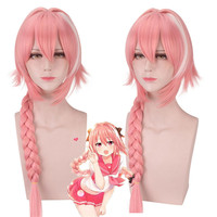 Cosplay Anime Astolfo Wig Fate/Apocrypha 60 CM Long Pink Hair Heat Resistant Astolfo Fate/Apocrypha Wig for women