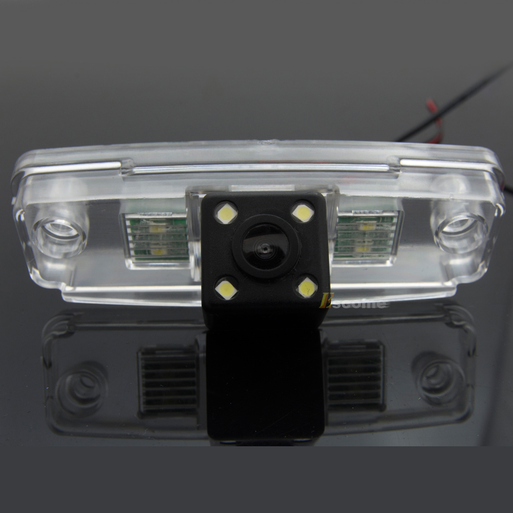 Waterproof 0Lux/ 4 LED Rear view Camera BackUp Reverse Parking Camera for SUBARU Outback Impreza Forester Car 8026LED цена