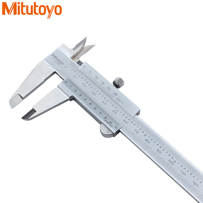 100% Mitutoyo Vernier Caliper0-200mm/0.02mm Gauge Micrometer Calipers Pie de rey Paquimetro Measure Tools 530-118 цены
