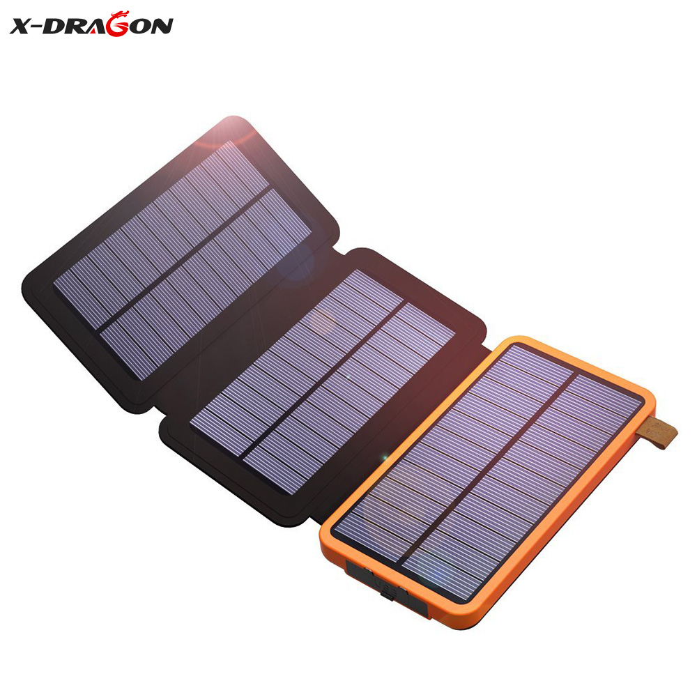 X-DRAGON Real Solar Charger Battery 10000mAh for iPhone 7 7 Plus 6 6s iPad Samsung HTC Huawei Xiaomi HTC Coolpad OnePlus. ...