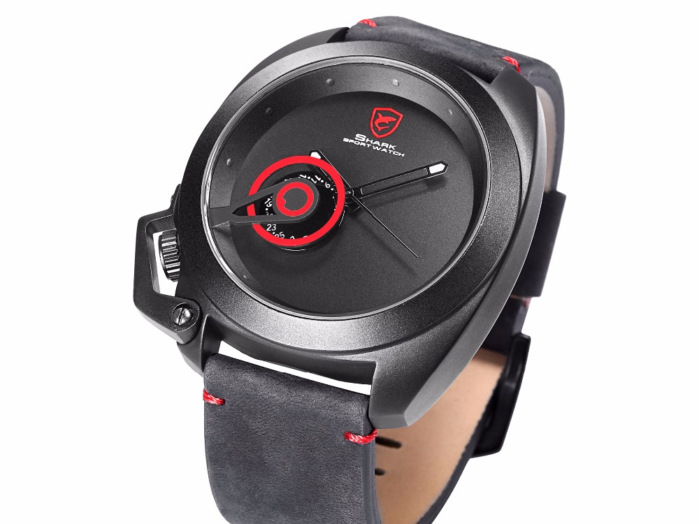 HTB1Rmk5d3oQMeJjy0Fnq6z8gFXag Tawny SHARK Sport Watch Red Date Luxury Watch