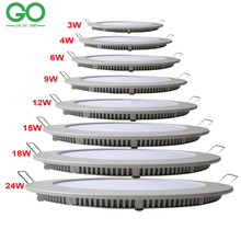 LED Round Panel Light Dimmable 3W 4W 6W 9W 12W 15W 18W 24W Surface Ceiling Recessed Downlight SMD2835 Ceiling Lamp Down Light
