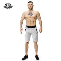Engenheiros do corpo flexível fitness Verão 2017 moda verão casuais calças curtas homens elásticos de algodão homem magro shorts academias