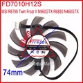 Firstdo FD7010H12S DC 12V 0.35A 75mm 40x40x40mm For MSI R6790 Twin Frozr II N560GTX R6850 N460GTX Graphics Card Fan 4Pin