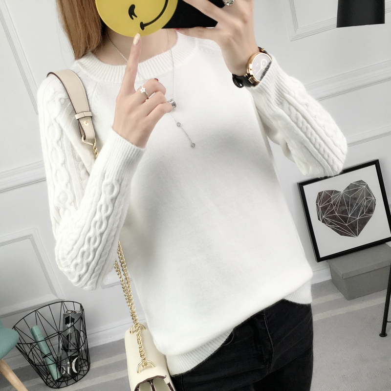 Womens Sweaters 2018 Autumn Winter Loose Pullover Pull Femme Side Split O-neck Knitted Sweater Women Elastic Jumper Female Tops