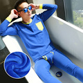 Men's Wholesale Double Layers Tight Thermal Suits Velvet Thickening Long Johns Winter Suits (for A Set)