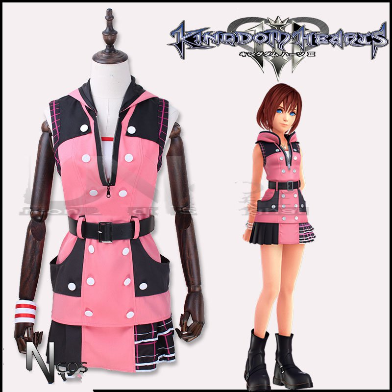 Kingdom Hearts 3 Kairi Cosplay Costume Fancy Dress Halloween Outfit Custom Made
