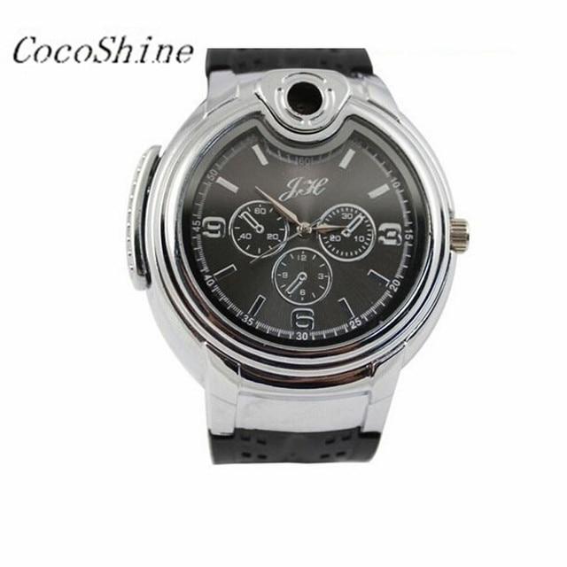 Men Male Watches Wrist Watch Moment Clock Military Lighter Watch Men Quartz Refillable Butane Gas Cigar Watches Gifts #20
