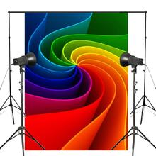 5x7ft Multicolor Photography Backdrop Windmill Rainbow Background Kids Photo Studio Props Wall Backdrop vinyl photography backdrop vintage photo studio photographic background flower wall floral newborns kids background 5x7ft f1913