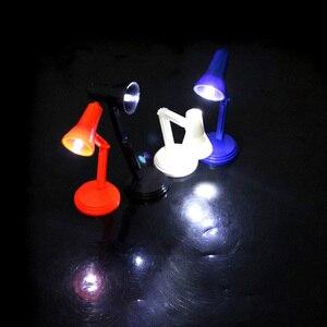 Image 3 - Bebek evi Mini masa lambası Dollhouse 1:6 LED masa lambası mobilya oyuncaklar sevimli masaüstü minyatür dekorasyon aksesuarları #20