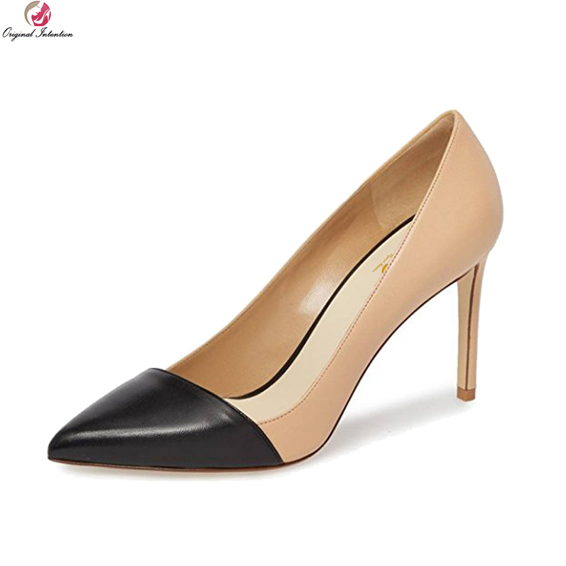 Original Intention Gorgeous Women Pumps Sexy Pointed Toe Thin High Heels Pumps Grey Red Pink Nude