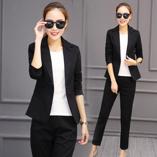 8283136c73 Female Professional Business Suit Jackets Women Office Outfit Autumn  Two-piece Set